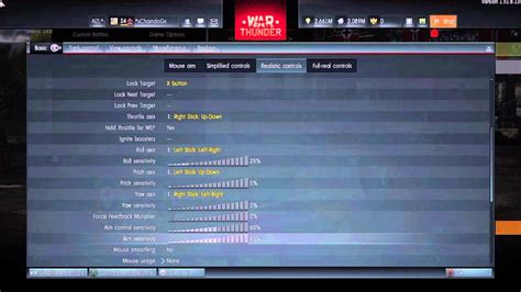 War Thunder - Control set-up for PS4