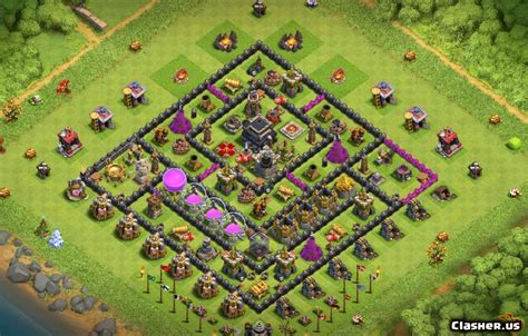[Town Hall 9] TH9 Safe base [With Link] [8-2019] - Farming