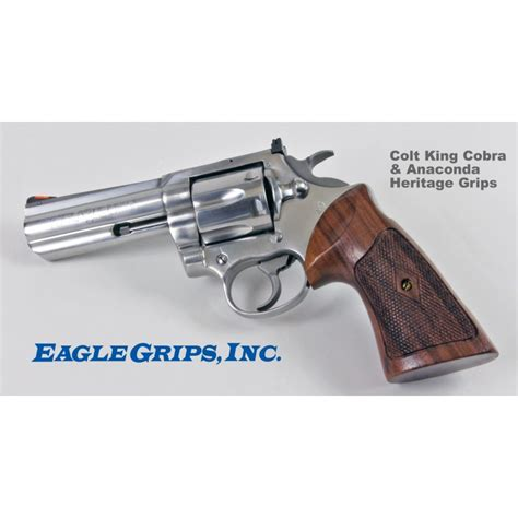 Colt Anaconda Rosewood Heritage Grips Checkered