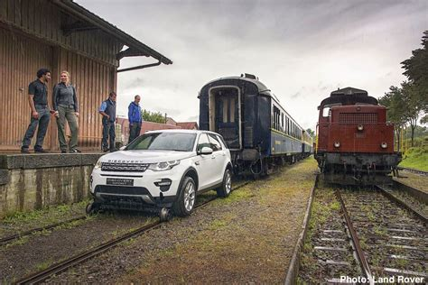 Watch Land Rover Discovery Sport Tow a Train – Extreme