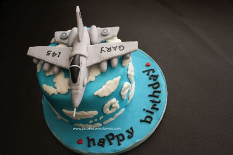 Jet fighter cake for hubby