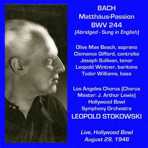 Leopold Stokowski - Bach Cantatas & Other Vocal Works