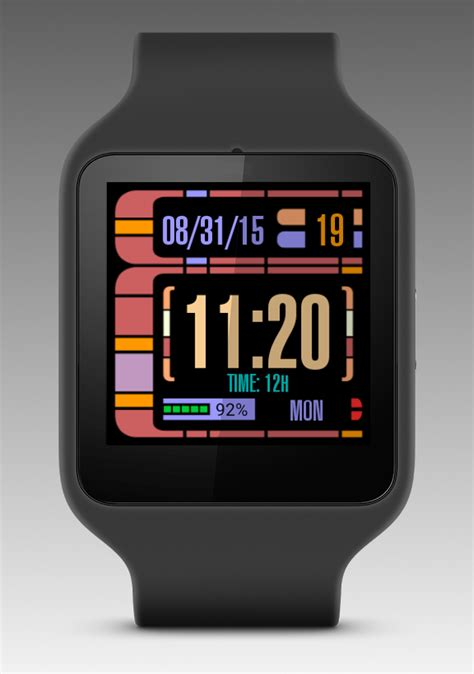 LCARS Android Wear Watch Face » Apk Thing - Android Apps