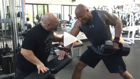 The Rock and Hany Rambod Killing it in the Gym | Muscle