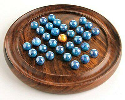 House of Marbles Wooden Solitaire Coffee Table Board Game