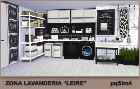 Leire Laundry Area by Mary Jiménez at pqSims4 » Sims 4 Updates