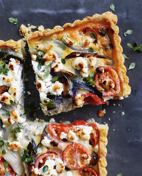 Tomato, onion and goat's cheese tart recipe : SBS Food