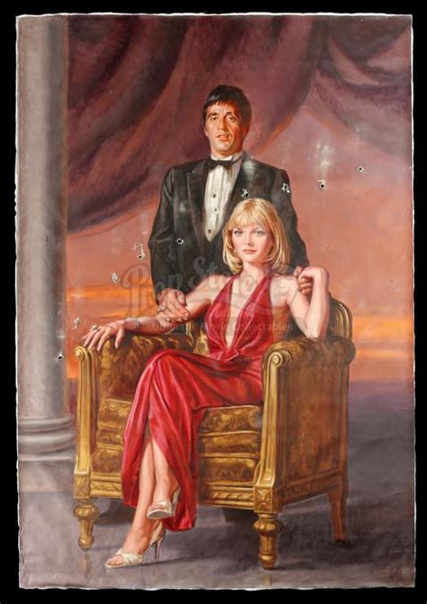 SCARFACE (1983) - Hand-Painted Mansion Portrait of Tony