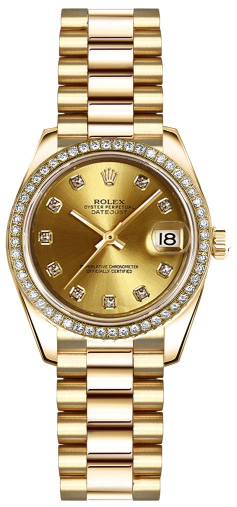 179138 Rolex Oyster Perpetual Lady Datejust 18K Gold Watch