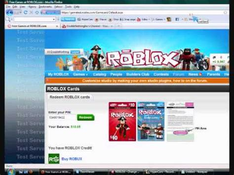 How to redeem a roblox card on the test site and get BC
