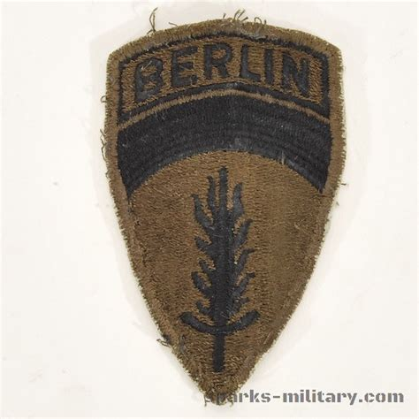 US Army Berlin Unit Patch Subdued Patch, Cut edge, old